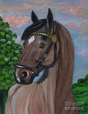Polonia Art Painting - Red Roan Horse by Anna Folkartanna Maciejewska-Dyba