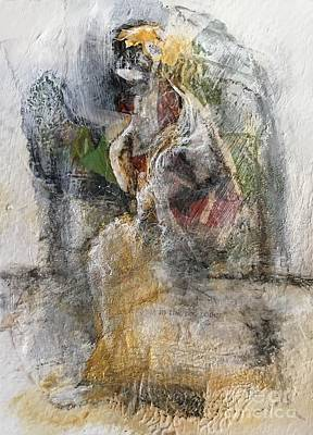 Mixed Media - Red Robe by Gail Butters Cohen