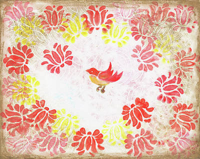 Red Robin Bird Decorative Artwork Art Print