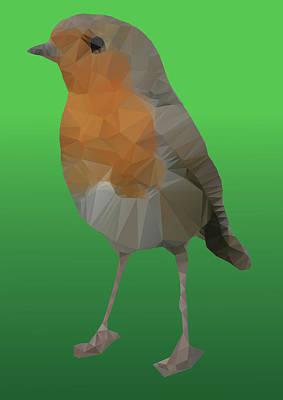 Digital Art - Red Robin by Jennifer Phillip