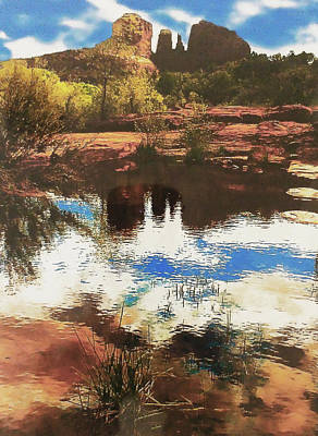 Photograph - Red Rock Mountains, Sedona Arizona by Roger Bester