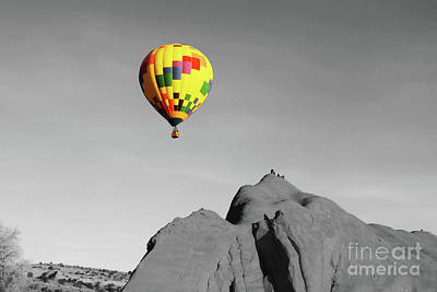 Red Rock Balloon Rally - Splash Of Color Print by Alicia Espinosa