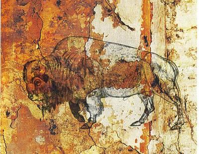 Red Rock Bison Art Print