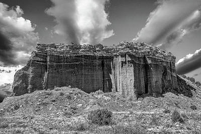 Photograph - Red Rock Bw by Scott Cordell