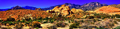 Photograph - Red Rock Canyon At Calico Basin No. 1 by Roger Passman
