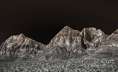 Photograph - Red Rock Canyon Black And White by Blake Webster