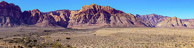 Photograph - Red Rock Canyon Nca Pano by Janis Knight