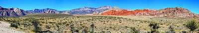 Red Rock Canyon Panorama Art Print by Barbara Teller