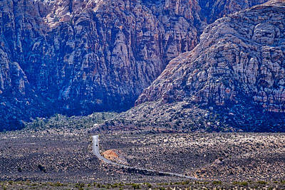 Photograph - Red Rock Canyon Road by Stuart Litoff