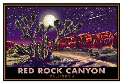 Red Rock Canyon Art Print by Steve Beaumont