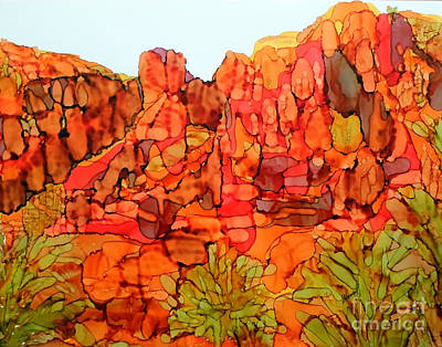 Painting - Red Rock Canyon Veiw From The Loop 8 by Vicki  Housel