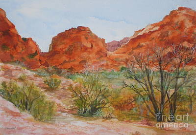 Art Print featuring the painting Red Rock Canyon by Vicki  Housel
