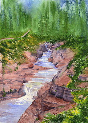 Painting - Red Rock Canyon - Waterton by Marsha Karle
