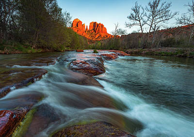 Photograph - Red Rock Cascade by Darren White
