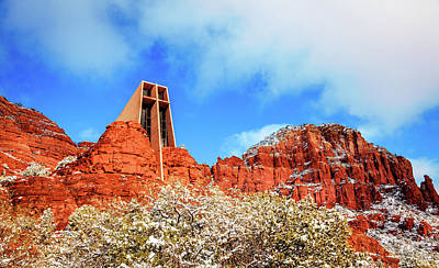 Photograph - Red Rock Church by Alexey Stiop