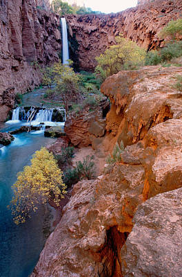 Red Rock Cliffs, Havasu Falls, Grand Art Print
