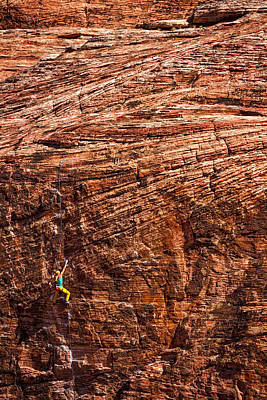 Photograph - Red Rock Climber by Stuart Litoff
