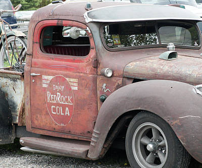 Photograph - Red Rock Cola Dodge Truck by Nick Mares