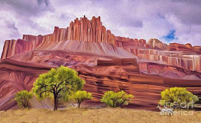 Digital Art - Red Rock Cougar by Walter Colvin
