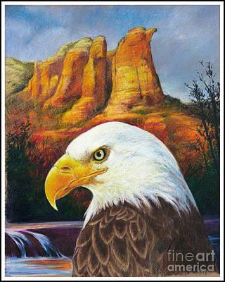 Red Rock Country Art Print by Ken Ottinger