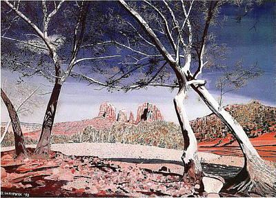 Painting - Red Rock Crossing by David Skrypnyk