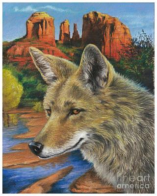 Red Rock Crossing Guard Art Print by Ken Ottinger
