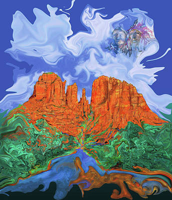 Painting - Red Rock Crossing by Martin Hardy
