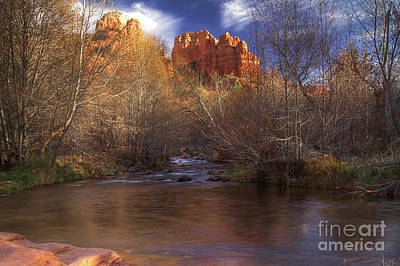 Red Rock Crossing Art Print by Photography by Laura Lee
