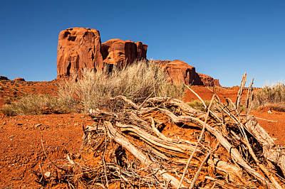 Photograph - Red Rock Desert In Monument Valley Utah by Susan Schmitz
