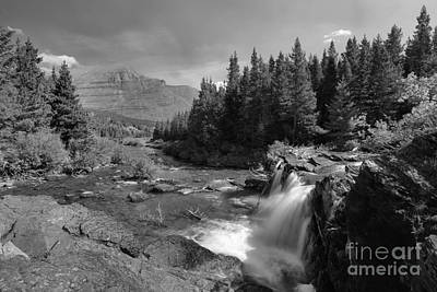 Photograph - Red Rock Falls Bw by Adam Jewell