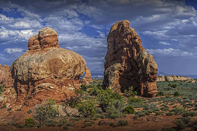 Photograph - Red Rock Formations On A Desert Plateau In Utah by Randall Nyhof
