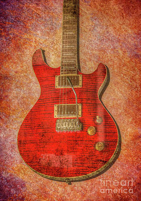 Digital Art - Red Rock Guitar by Randy Steele