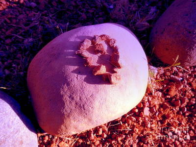 Photograph - Red Rock Heart by Marlene Rose Besso
