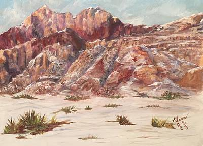 Painting - Red Rock In The Snow by Charme Curtin