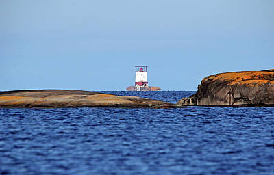 Photograph - Red Rock Lighthouse Georgian Bay by Debbie Oppermann