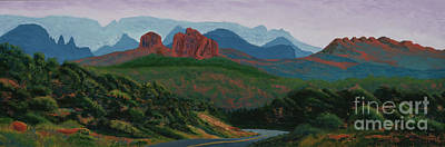 Cathedral Rock Painting - Red Rock Loop Road Sedona by Garry McMichael