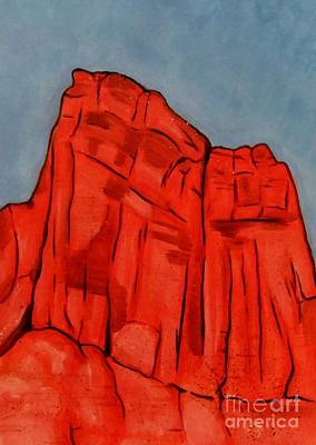 Painting - Red Rock Moab by Leonie Higgins Noone