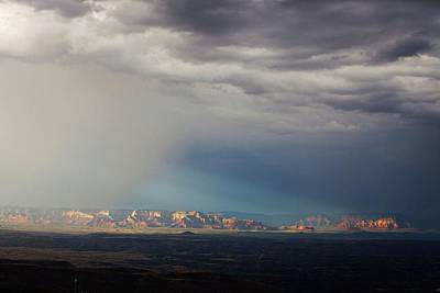 Art Print featuring the photograph Red Rock Monsoon by Ron Chilston