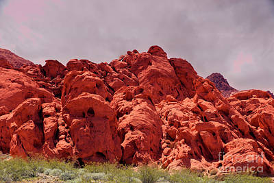 Photograph - Red Rock Near Henderson Nevada by David Arment