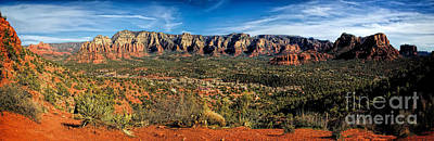 Red Rock Pano Original by Jon Burch Photography
