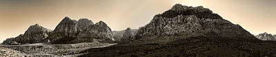 Photograph - Red Rock Panorama - Anselized by Ricky Barnard