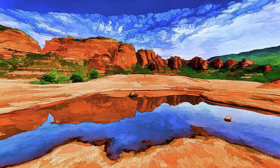Photograph - Red Rock Reflections by ABeautifulSky Photography by Bill Caldwell