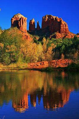 Red Rock Reflections Art Print by Dale Gerdes