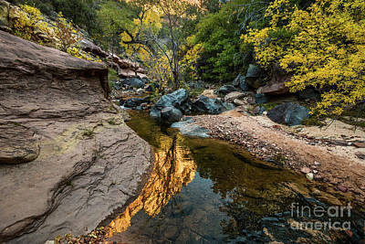Photograph - Red Rock River Reflection by Jamie Pham