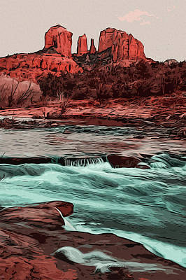 Painting - Red Rock State Park by Andrea Mazzocchetti