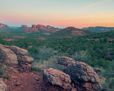 Photograph - Red Rock Sunset by Ray Devlin