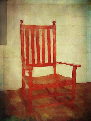 Red Rocker Art Print by Bellesouth Studio