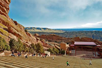 Red Rocks Amphitheater Art Print by Stephen  Johnson