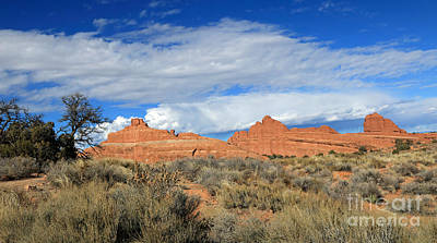 Photograph - Red Rocks And Thunderheads II by Mary Haber