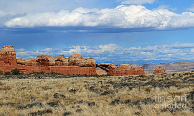 Photograph - Red Rocks And Thunderheads IIi by Mary Haber